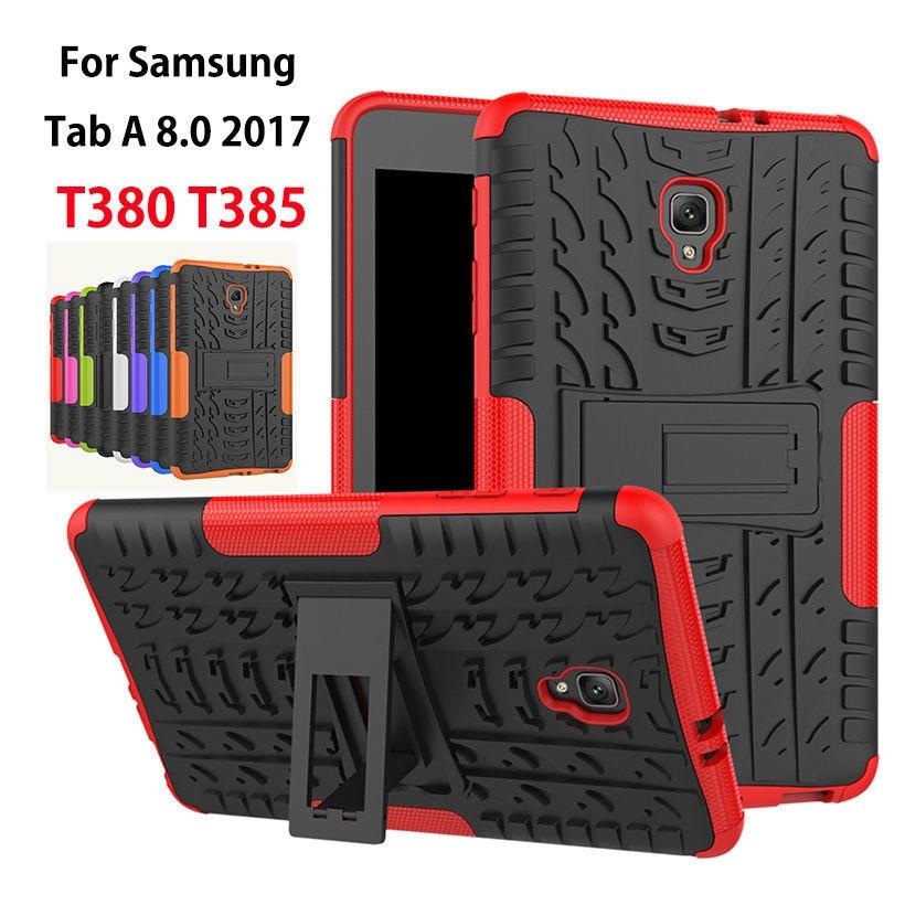 Para Samsung Galaxy TAB a 8.0 t380 t385 2017 cubierta Heavy Duty 2 en 1 híbrido resistente a prueba de golpes goma Tablets funda