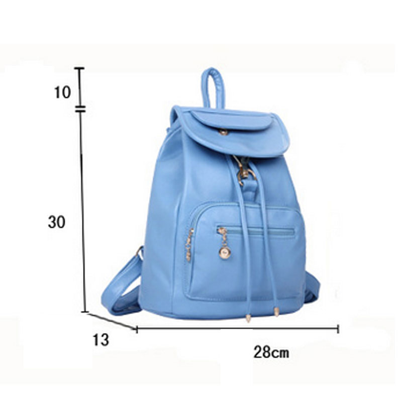 mulheres bolsapack mochila de couro Fabric Texture : PU Backpack Women