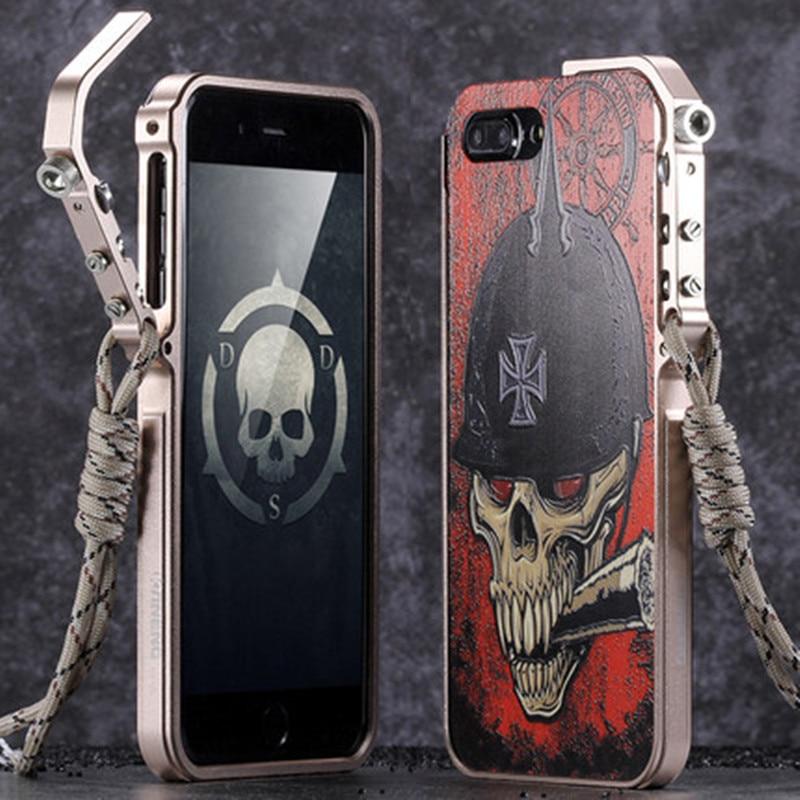 bilder für Kaneng metall case für iphone 7 7 plus aluminiumrahmen + 3d relief protective schutzhülle phone gehäuse