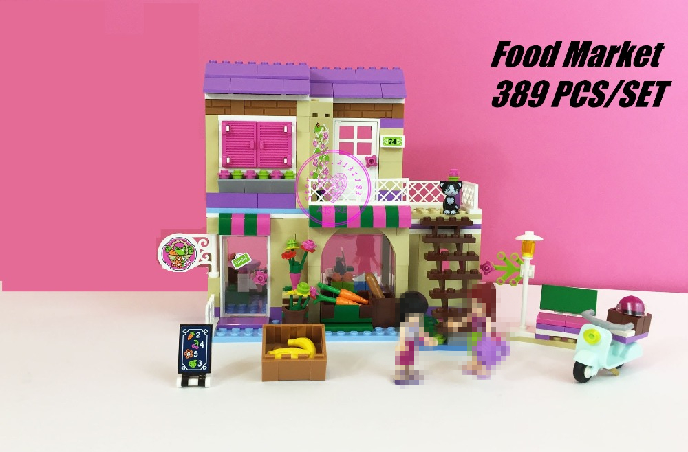 Friends City heartlake Food Market model Building Blocks Mia Maya Bricks Toys Girls Compatible with lego kid friends gift set guess сумка guess hwisab p6309 red