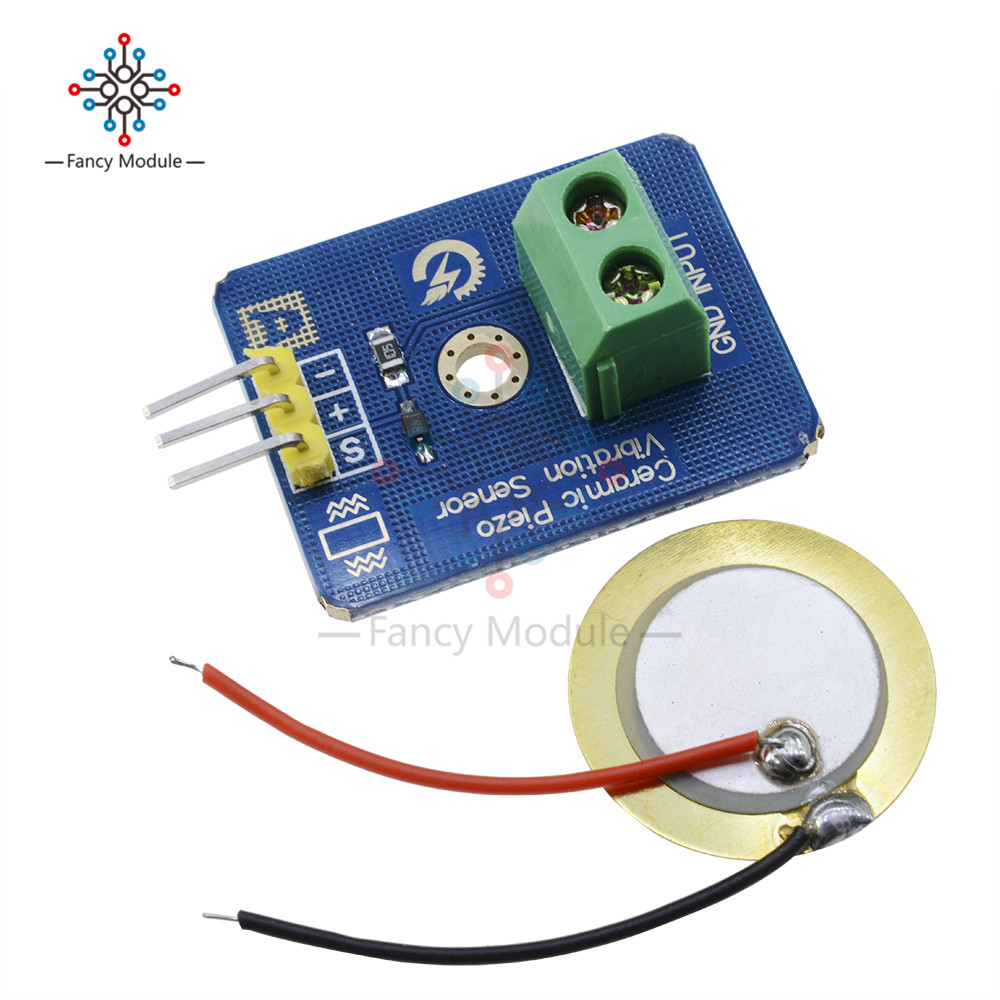 US $0 82 13% OFF|Ceramic Piezo Vibration Sensor Analog Output Electronic  Components Supplies Sensors for Arduino Compatible with UNO R3 Module-in