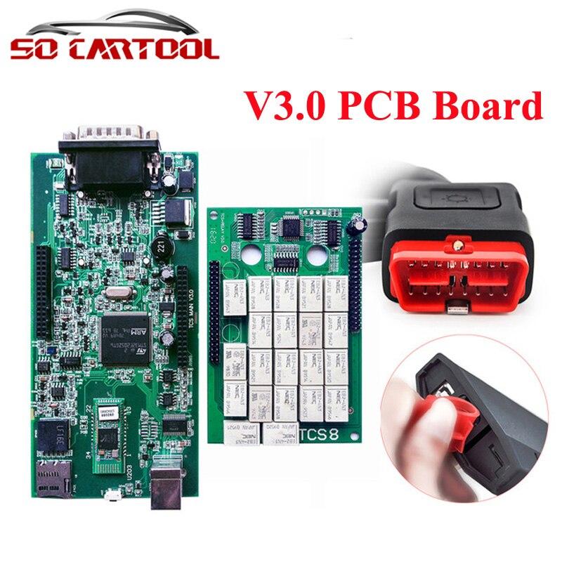 Prix pour 10 pcs Vert PCB Qualité A + TCS CDP PRO PLUS NOUVEAU VCI Outils de diagnostic Avec Bluetooth Pour Voitures et Camions 2015 R3/2014. R2 DHL livraison
