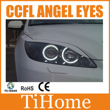 Free Shipping CCFL ANGEL EYES KIT FOR MAZDA3 M3 NON PROJECTOR HALO RINGS CCFL ANGELEYES LIGHTS