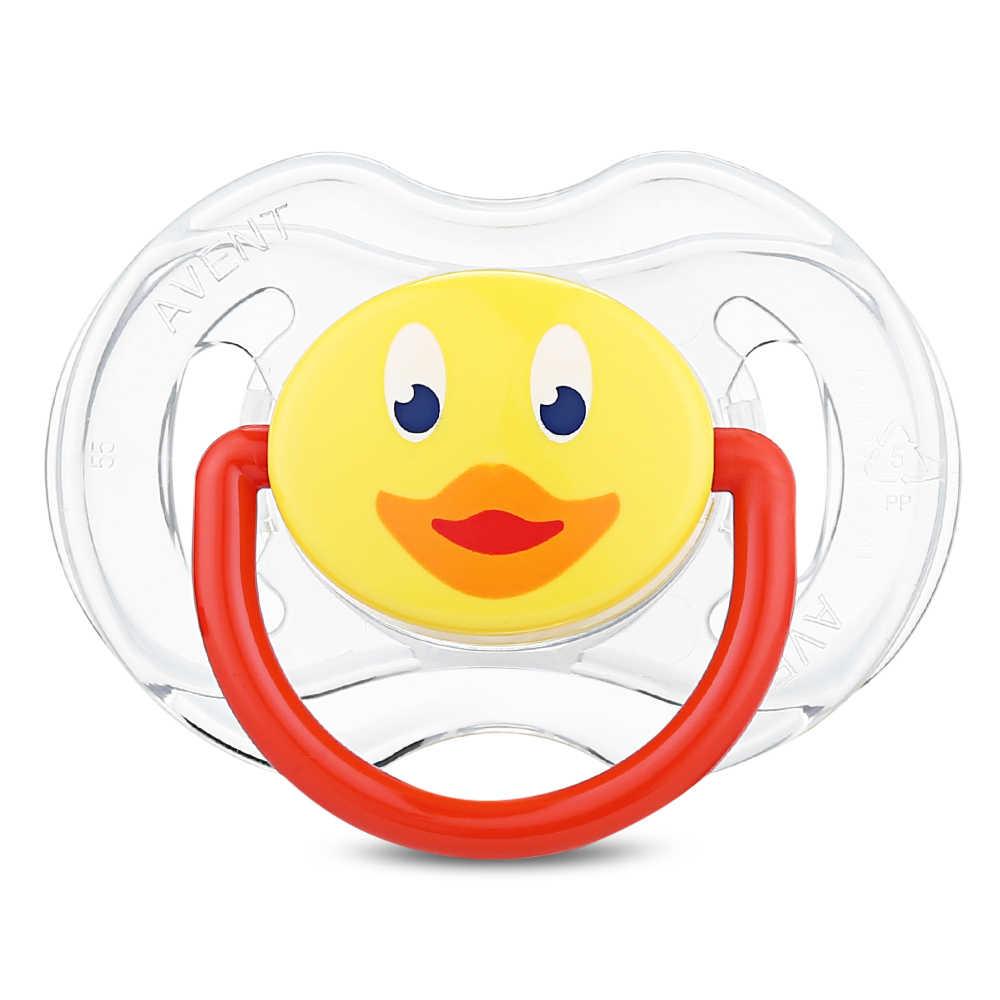 Philips AVENT, 2 шт. (0-6 м), Силиконовая пустышка для новорожденных, пустышка для малышей, Ортодонтические соски, прорезыватель для детей, мультяшная пустышка