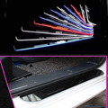 For Porsche Cayenne macan Panamera car light LED Moving front door scuff sticker Sill Plate pedal protector sticker