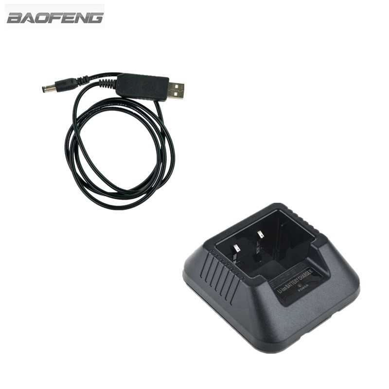 Baofeng UV5R USB Battery Charger For Portable Two Way Radio Walkie Talkie UV-5R UV-5RA UV-5RC UV-5RE Series