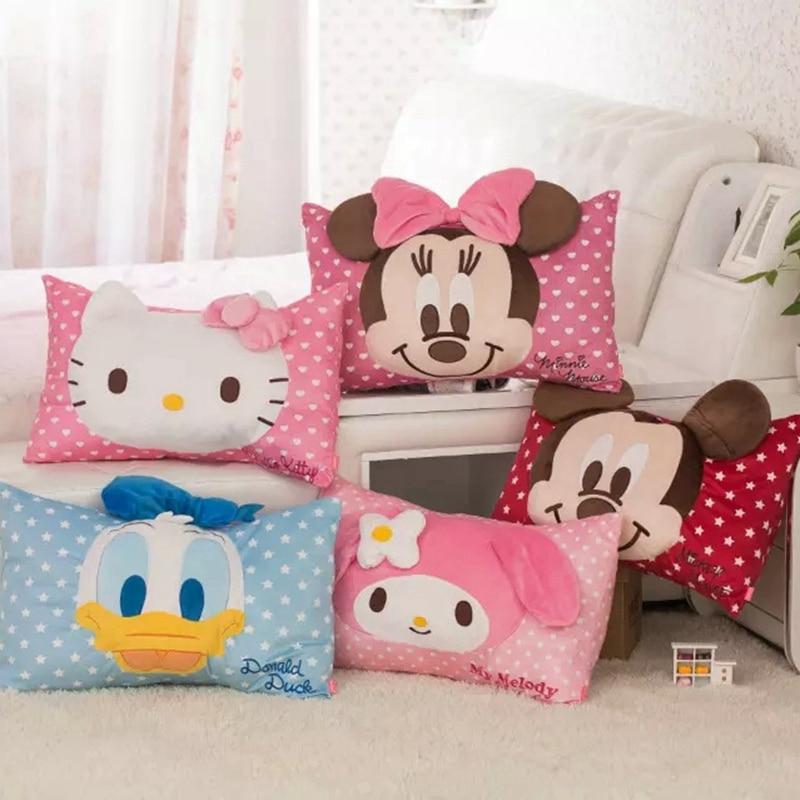 Mickey mouse toys Cute cartoon mickey Donald Duck Helokitty pillowcase single pillow cases children pillowcase boys