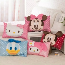 Mickey mouse toys Cute cartoon mickey Donald Duck Helokitty pillowcase single pillow cases children pillowcase boys and girls