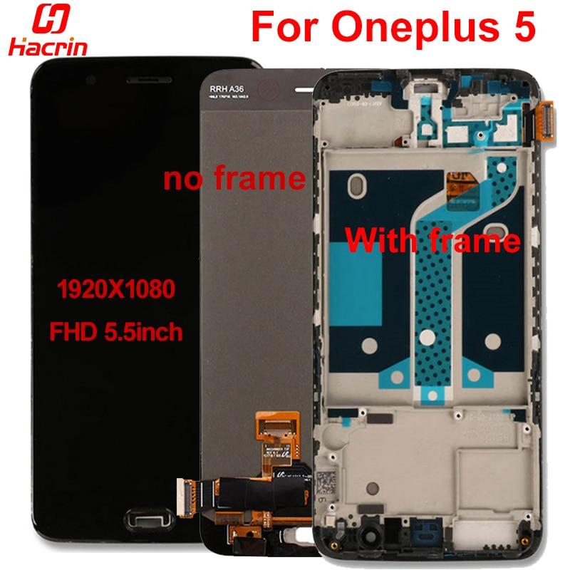 Pour Oneplus 5 écran LCD de haute qualité nouveau remplacement écran LCD + écran tactile avec cadre pour Oneplus 5 cinq 5.5 pouces Smartphone