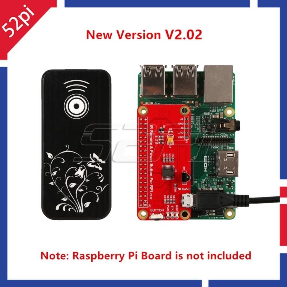 52Pi New Version V2.02 Switch Remote Control Module IR Remote Control Power Button Module For Raspberry Pi 2/3 Model B / Pi Zero