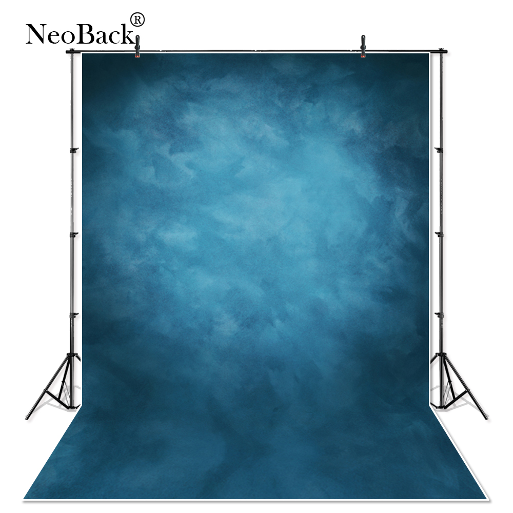 NeoBack 5X7 Vinyl Cloth Photography Backdrop Red Background Studio Misty Blue Portrait Photo Backdrop Wedding Backdrop P1410 wallpaper headboard bed photo backdrop portrait cloth computer printed bedroom backgrounds