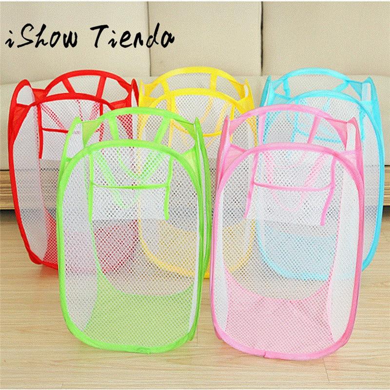 5 Colors Mesh Laundry Wash Bags Foldable Delicates Lingerie Bra Socks Underwear Washing Machine Clothes Protection Net 0123