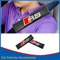 2X Автомобилей Стайлинг Комфортабельный Автомобиль Безопасности Ремень Безопасности Плечо Колодки обложка Подушка Жгута Колодки Для Audi RS4 RS5 RS6 RS7 RS
