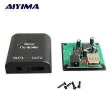 AIYIMA 2Pcs Solar Panel Cells DIY USB DC12V2A Solar Controller Powerbank Bateria Externa De Celular Painel Solar Panel China