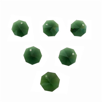 2000pcs/Lot One Hole 14mm Dark Green Color Crystal Glass Octagon Beads In One Hole Wholesale , Free Shipping