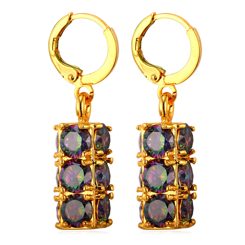 d1be234cfc74 Kpop clásico cristal redondo Pendientes de gota para las mujeres oro plata  color pendientes moda joyería para el regalo del partido 2016 ye1958k