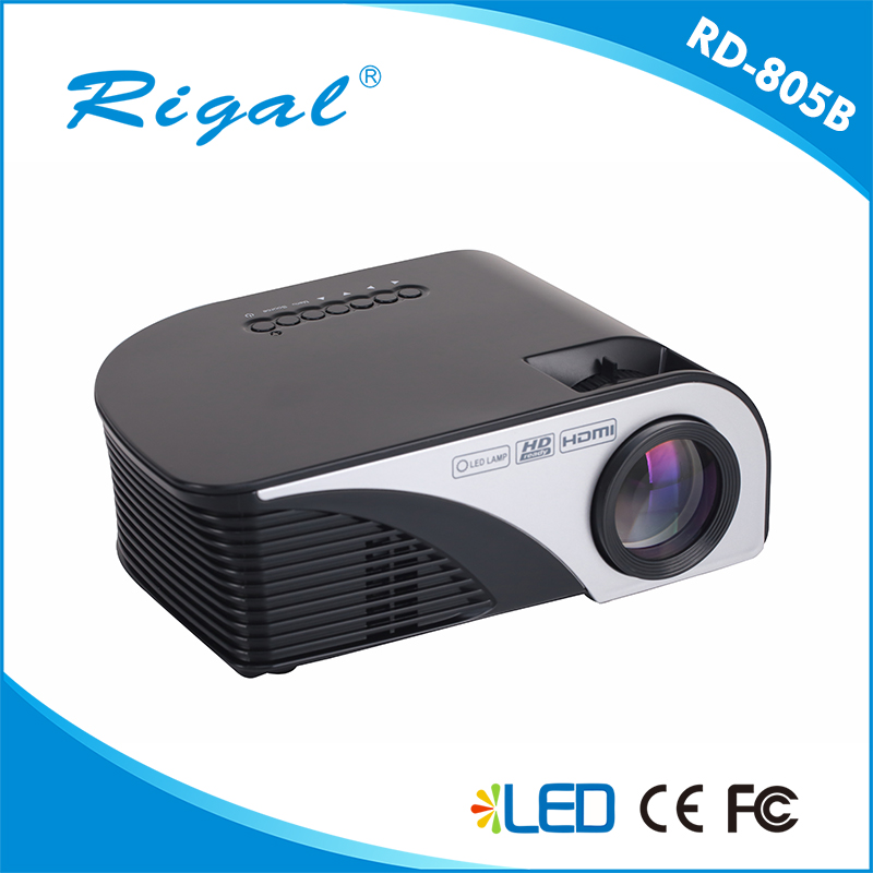 2017 Latest 1200 lumens 800*480 home theater projector/cheap mini projector/Android Mobile Phone Projector RD-805B