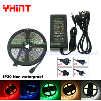1 Set 5 Meters DC12V 5A SMD5050 IP20 Non Waterproof Red Blue Green Yellow White Warm