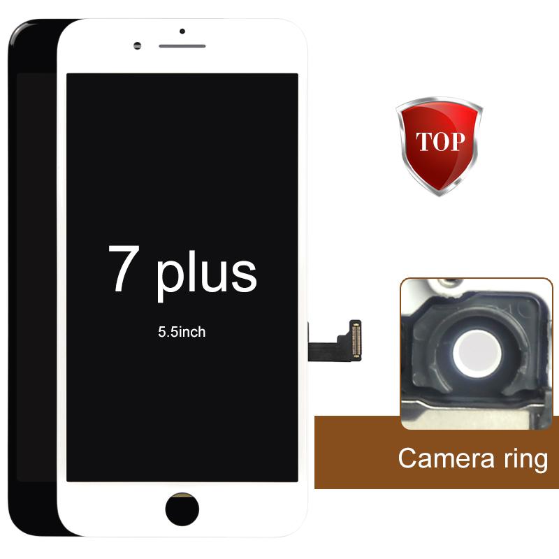 Prix pour 2 pcs aaa aucun pixel mort pour iphone 7 plus écran lcd avec écran tactile digitizer assemblée noir et blanc