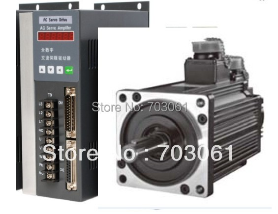AC servo motor with new driver 1.8kw for cnc machine tool  servo motor drive new original motor driver mr j3 350a 3ph ac220v 3 5kw ac servo drive