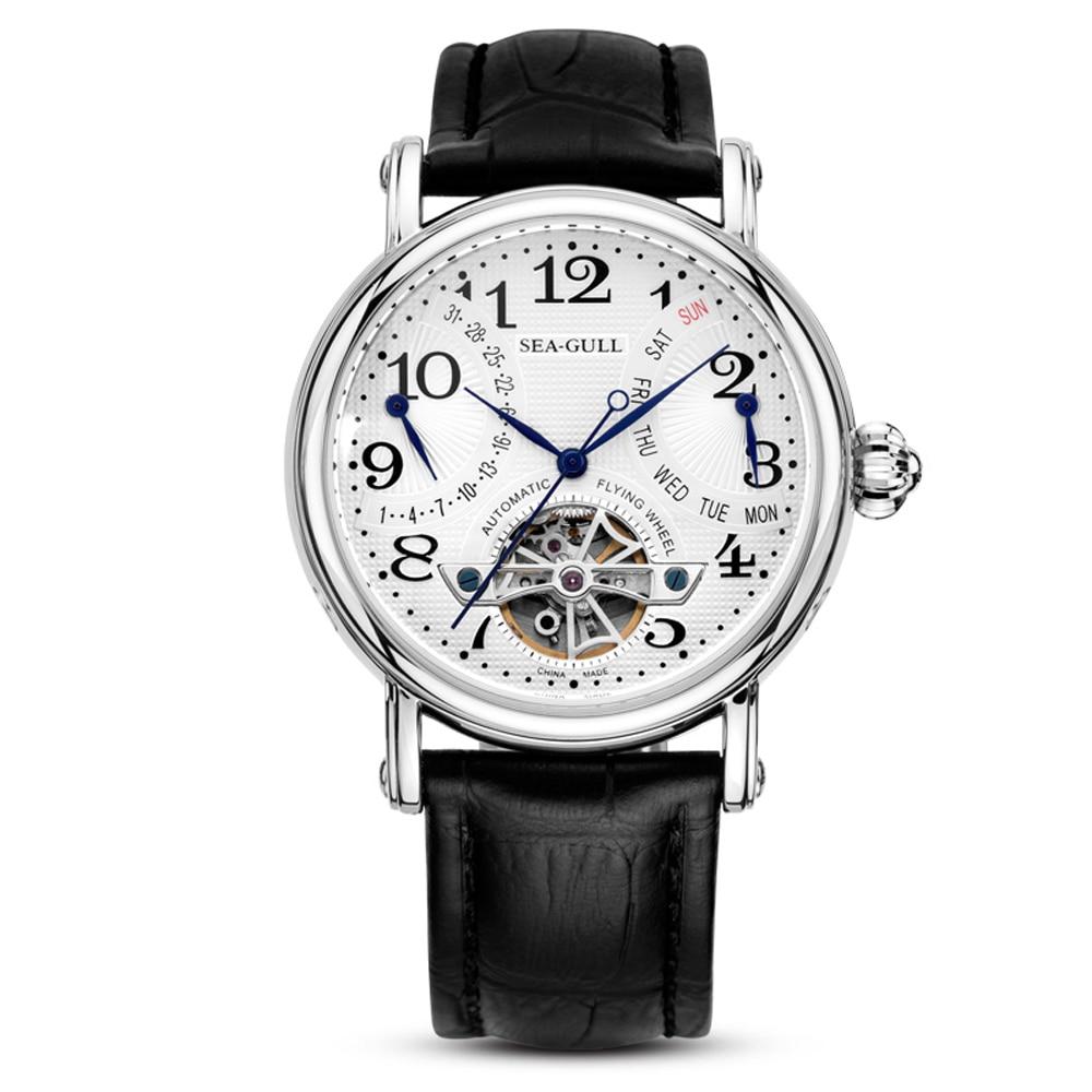 Sea-gull Men Watch M171s Date And Week Flywheel Display Mechanical Men's Seagull Watch M171S