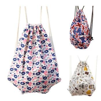2018  new fashion escolar backpack printing travel softback women mochila feminina harajuku drawstring bag girl backpacks grande bolsas femininas de couro