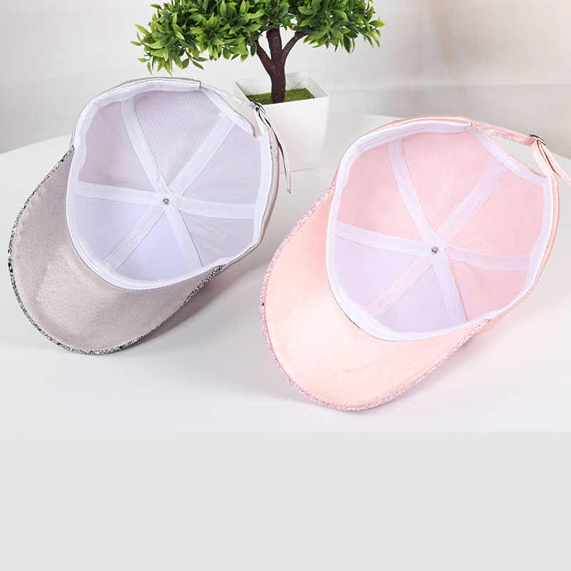 aa49065fd9 Bling Hats For Women 2018 Summer Adjustable Hats With Glitter Rainstone  Ponytail Baseball Cap Snapback Hat Hip Hop Caps Casual