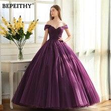 Женское вечернее платье BEPEITHY, Длинное Элегантное бальное платье с открытыми плечами, для выпускного вечера, 2020