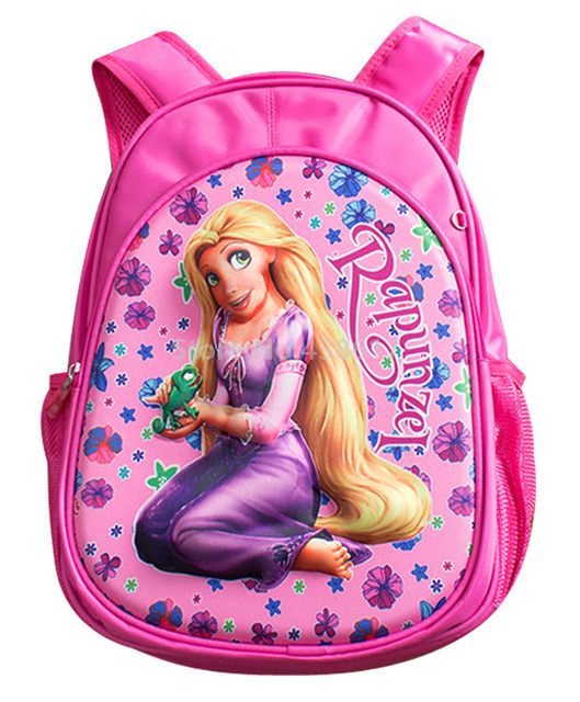 1303d36204a New Fashion Rapunzel Princess Backpack School Bags For Kids Children Girls  Kindergarten Preschool School Schoolbag Bag