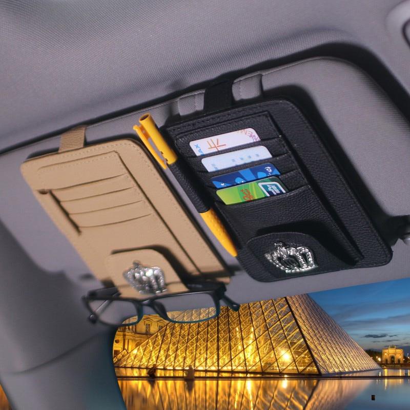 2017 Fashion Sun Visor Type Cards Holder Auto Car Name Cards Storage Case Organizer Sun Visor Type Auto-styling Accessories 1 5 scale gas rc car 29cc engine rtr