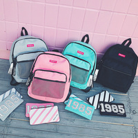Menghuo Preppy Style Leisure Girl School Bags For Teenagers Backpack Set Women Travel Bags 3 Pcs