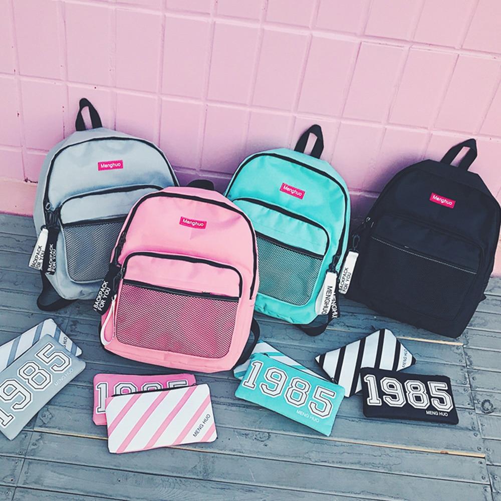 sacolas 3 pçs/set mochila mochila Handle/strap Tipo : Soft Handle