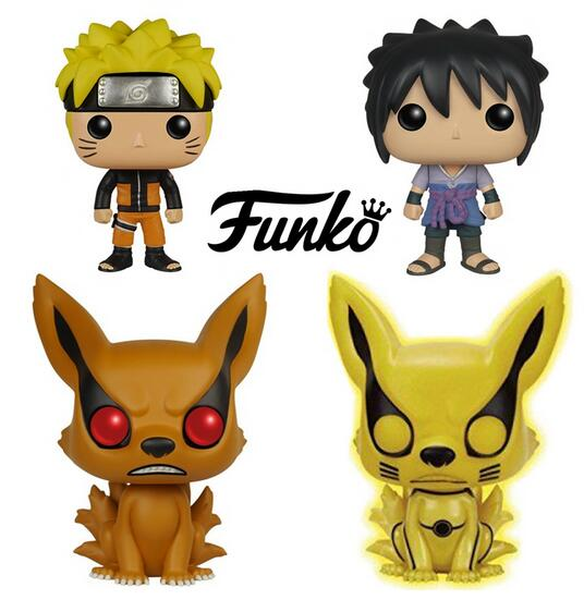 FUNKO POP! Naruto Shippuden Uchiha Sasuke Uzumaki Naruto kyuubi Vinyl PVC Action Figure Collectible Model Toy 10cm KT3502  funko pop zootopia fox nick 186 pvc action figure collectible model toy 10cm kt2247