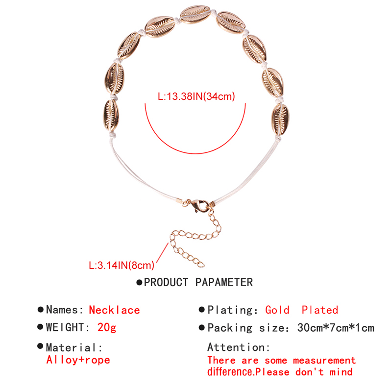 Lalynnlys New Hot Shell Conch Choker Necklace Women Girls Vintage Statement Multi-layer Necklaces Summer Beach Jewelry N68671 12