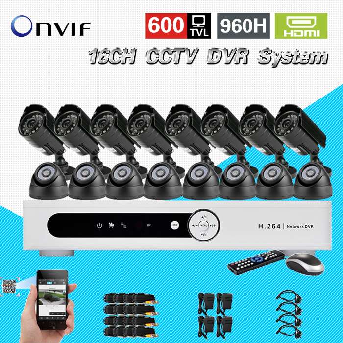 TEATE 600TVL 16 Ch IR indoor outdoor waterproof video Surveillance Camera security Kit Home cctv HDMI 1080P dvr System CK-041 zosi 1080p 8ch tvi dvr with 8x 1080p hd outdoor home security video surveillance camera system 2tb hard drive white