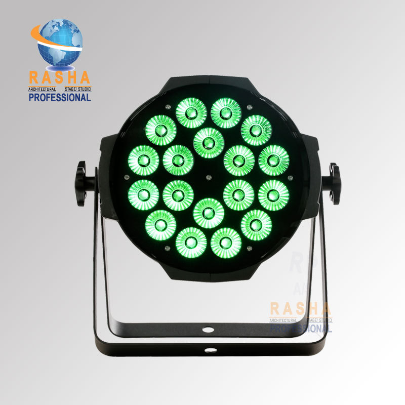 Rasha High Brightness Alinium 18*15W 5in1 RGBAW Tinit - 5 Color LED Par Can Light,Stage Light American DJ Light With Powercon
