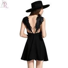 Strap Backless Mini Skater Dress Sleeveless Casual Sexy Clubweare
