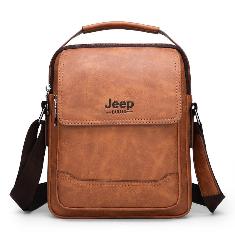 Luxury Brand JEEP BULUO Men Messenger Bags Large Capacity Handbag For Man Leather Shoulder Bag Brown Business Male Crossbody BagLuxury Brand JEEP BULUO Men Messenger Bags Large Capacity Handbag For Man Leather Shoulder Bag Brown Business Male Crossbody Bag