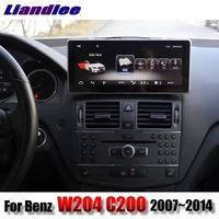 Liandlee Car Multimedia Player NAVI For Mercedes Benz MB C W204 C200 Class 2007~2014 Original Car Style Radio GPS 4G Navigation