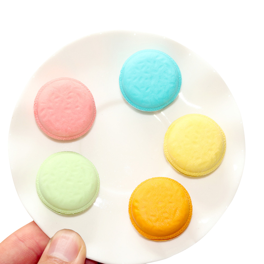 8packs/lot Cute Candy Color Eraser Nontoxic Students' Gift Prize Children Learning Toys School Office Supplies Macaroon Eraser