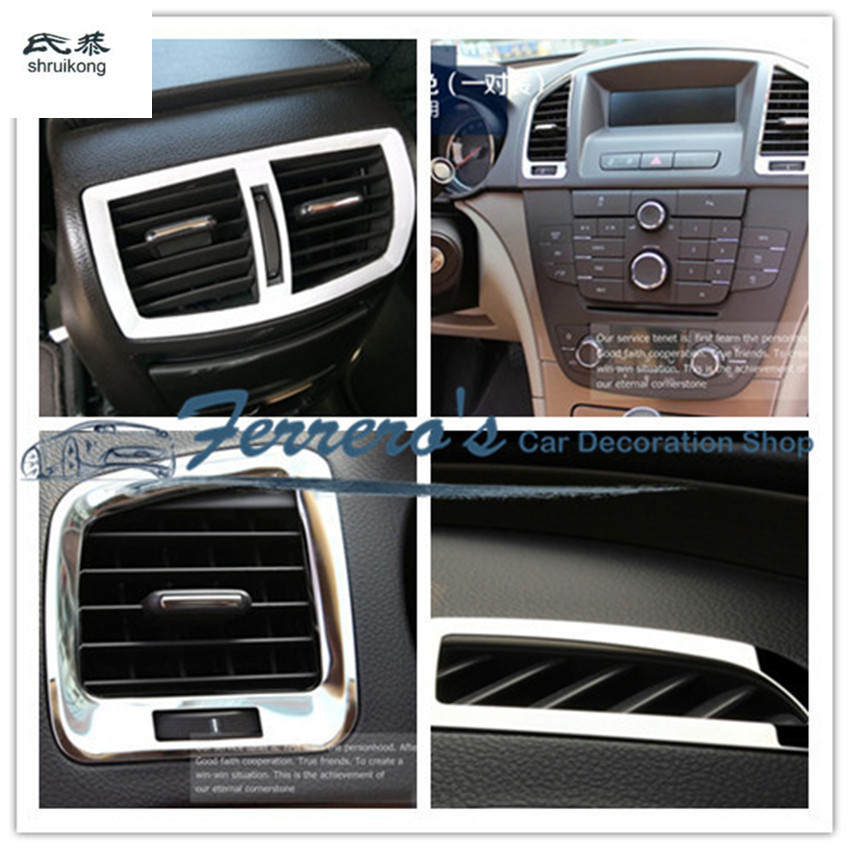Free shipping car stickers 7pcs all air conditioning outlet decoration for 2009 2015 OPEL Insignia / for Buick Regal