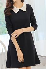 2017 new women dress summer  Women's clothing Doll brought Long sleeve dresses A-line  render