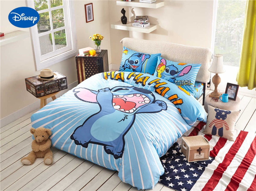 Stitch Print Bedding Set For Children's Kids Bedroom Decor
