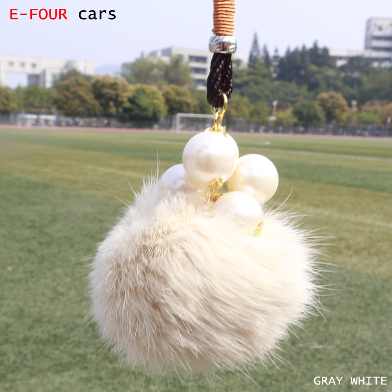 E-FOUR Car Hanging Ornaments Auto Interior Accessories Decoration Rabbit Hair Decor with ...