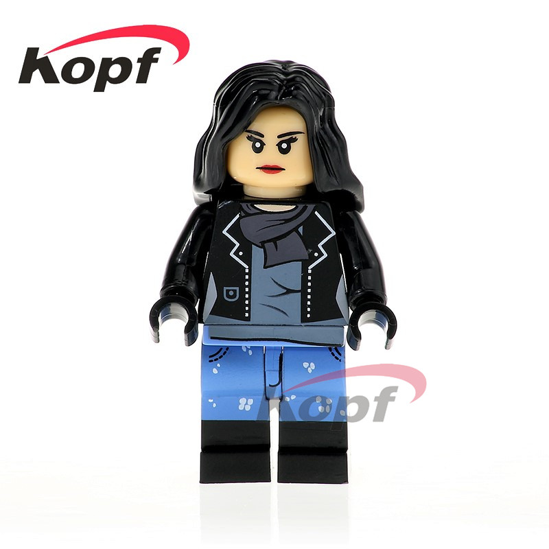 Single Sale Super Heroes Jessica Jones Whiplash Racing Iron Man Red Widow Luke Cage Building Blocks Children Gift Toys XH 718 single sale super heroes red yellow deadpool duck the bride terminator indiana jones building blocks children gift toys kf928