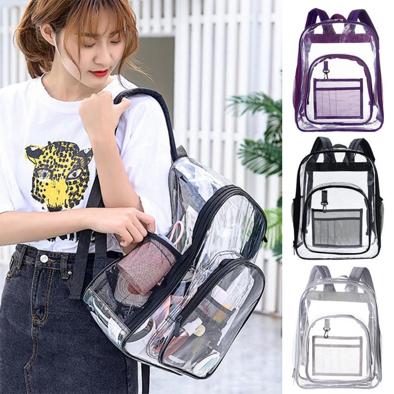 Mummy Waterproof Backpacks Large Capacity Maternity Diaper Bags Women PVC Transparent Handbag Fashion Baby Nappy Storage Bags