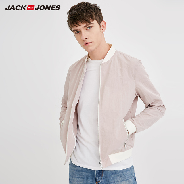 Jack Jones Mens Baseball Collar Jacket Bomber Jacket Short Coat 218321548