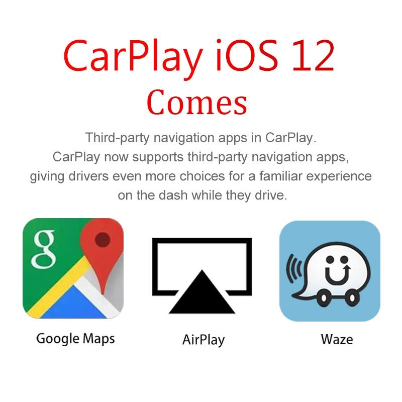 Carlinkit USB Apple Carplay Dongle para Android Auto iPhone iOS12 Carplay  apoyo Android/MTK WinCE del coche del sistema de navegación jugador
