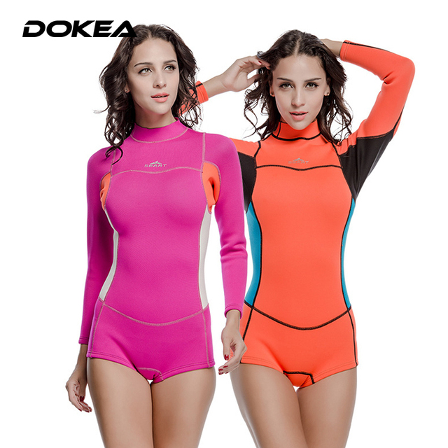 648b20fa47a Female 2MM Rubber Wetsuit Women Warm Winter Swimming Jellyfish Thick Long  Sleeved Diving Snorkeling Rash Guard Swimsuit Swimwear on Aliexpress.com |  Alibaba ...