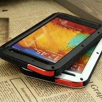 Note 3 Original Love mei Waterproof Case For Samsung Galaxy Note 3 N9000 case Dropproof Aluminum case Powerful shockproof Case